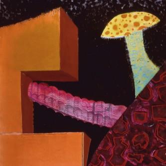 """Mushrooms and Blocks,78 x 65"""", oil on canvas, 2008"""