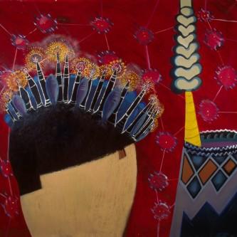 """Arcade, 67 x 71"""", oil on canvas, 2005"""