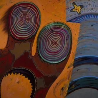"Fun House, 60 x 65"", oil on canvas, 2005"