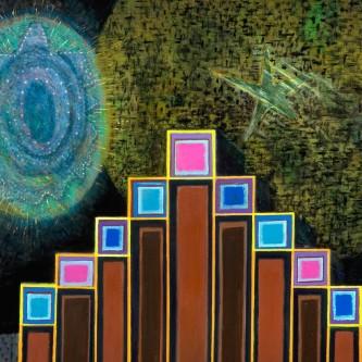 """Luminaries, 60 x 80"""", oil on canvas, 2009"""