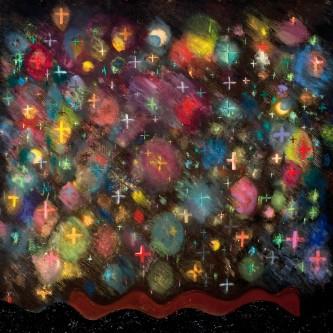 """Night Garden, 65 x53"""", oil on canvas, 2009"""