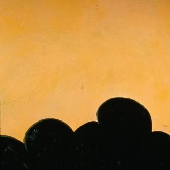 "Untitled/Orange-Yellow, 65  x58"", oil on linen, 2001"