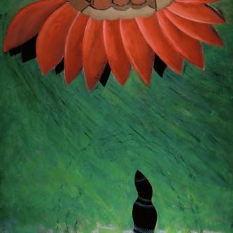"A's Misbegotten Flower, 80 x 75"", oil on canvas, 2005"