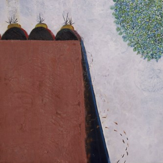 "Matchbook and Gem, 58 x 65"", oil on canvas, 2005"